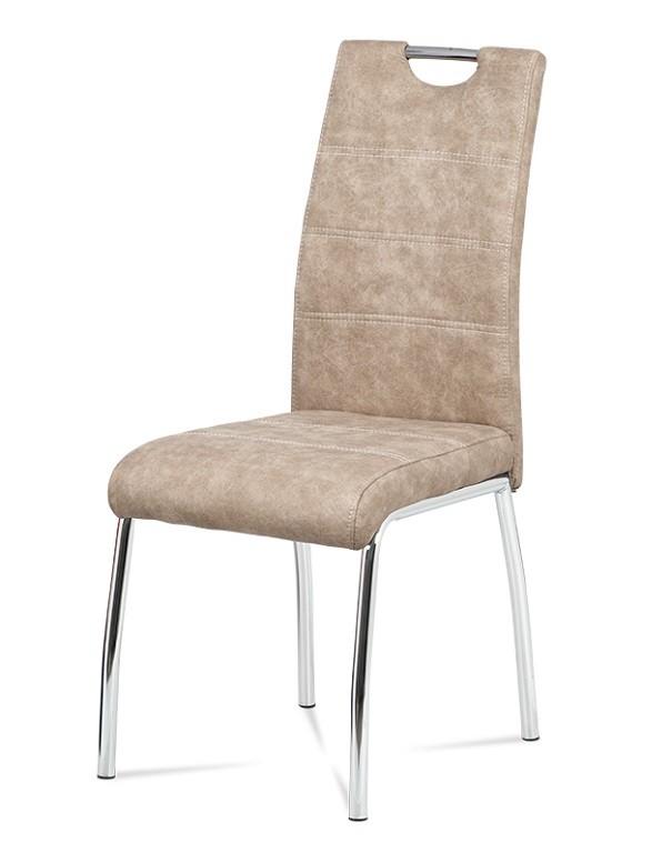 Jídelní židle Jídelní židle Gasela krémová/chrom