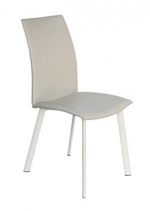 Jídelní židle Jídelní židle K192-eko kůže béžová, matná ocel bílá - II. jakost