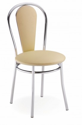 Jídelní židle Jídelní židle Tulipan Plus (béžová, chrom)