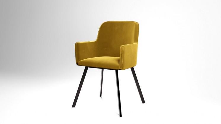 Jídelní židle Jídelní židle Vian hořčicová, černá