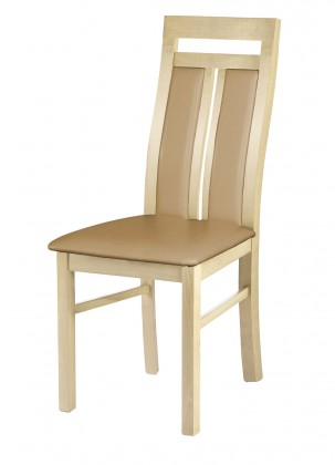 Jídelní židle Jídelní židle Werona (dřevo - dub sonoma/potah - syntetická kůže)