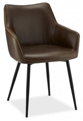 Jídelní židle Jídelní židle Zalea tmavě hnědá, černá