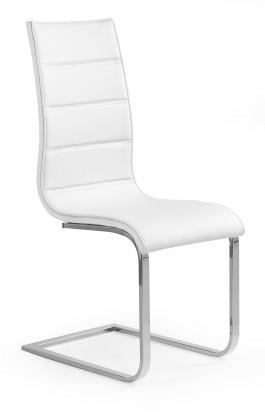 Jídelní židle K104 - Jídelní židle (bílá, stříbrná)