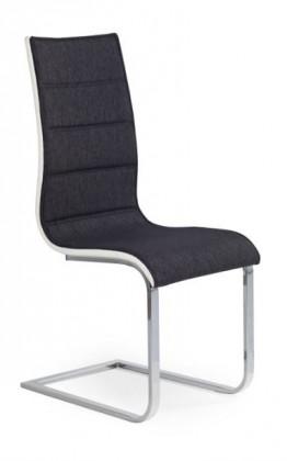 Jídelní židle K105  (eco kůže bílá, grafit, chrom)
