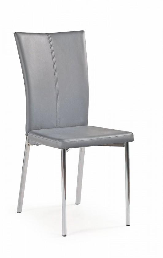 Jídelní židle K113 - Jídelní židle (šedá, stříbrná)
