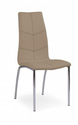Jídelní židle K114 - Jídelní židle (tmavě béžová, stříbrná)