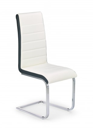 Jídelní židle K132 - Jídelní židle (bílo-černá, stříbrná)
