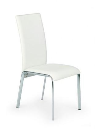 Jídelní židle k135 (eco kůže bílá, chrom)