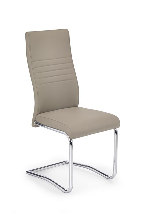 Jídelní židle K183 (chromovaná ocel/eko kůže cappuccino)