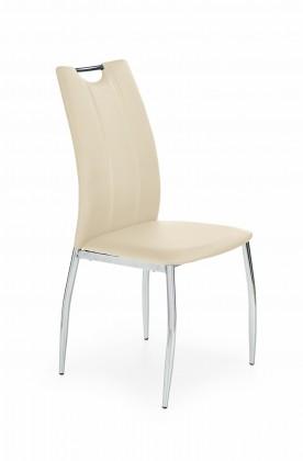Jídelní židle K187 (eco kůže béžová,chrom)