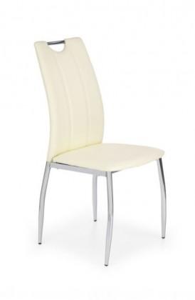 Jídelní židle K187 (eco kůže bílá, chrom)