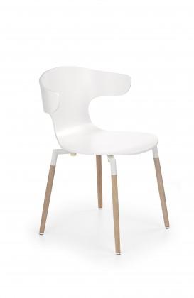Jídelní židle K189 - Jídelní židle (bílá, hnědá)