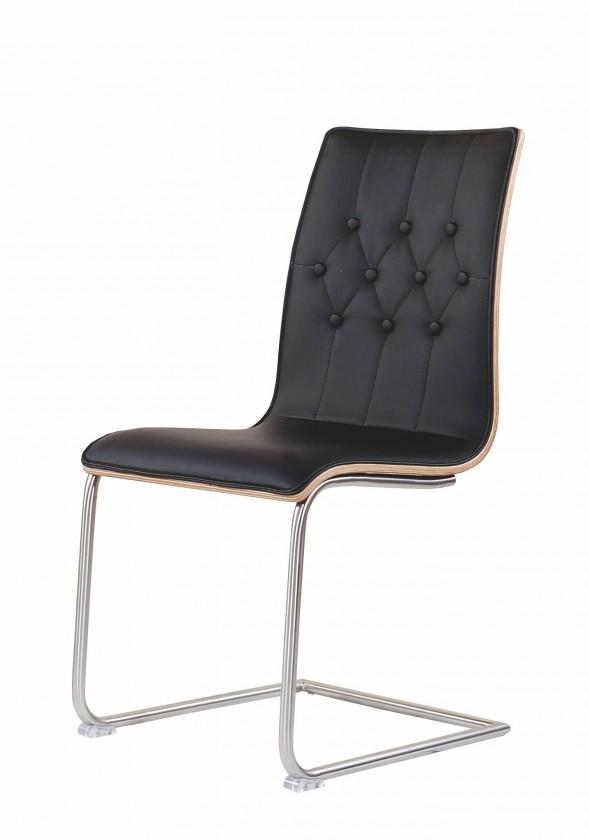 Jídelní židle K190  (nerez,eko kůže,lamino)