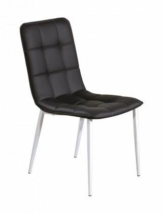 Jídelní židle K191  (eko kůže bílo-černá, matná ocel bílá)