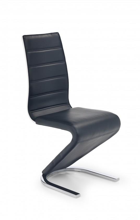 Jídelní židle K194 (eco kůže černá,bílá, chrom)