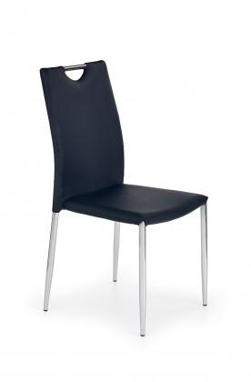 Jídelní židle K196 (eco kůže černá, chrom)