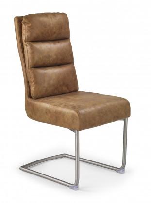 Jídelní židle K207 - Jídelní židle (hnědá, stříbrná)