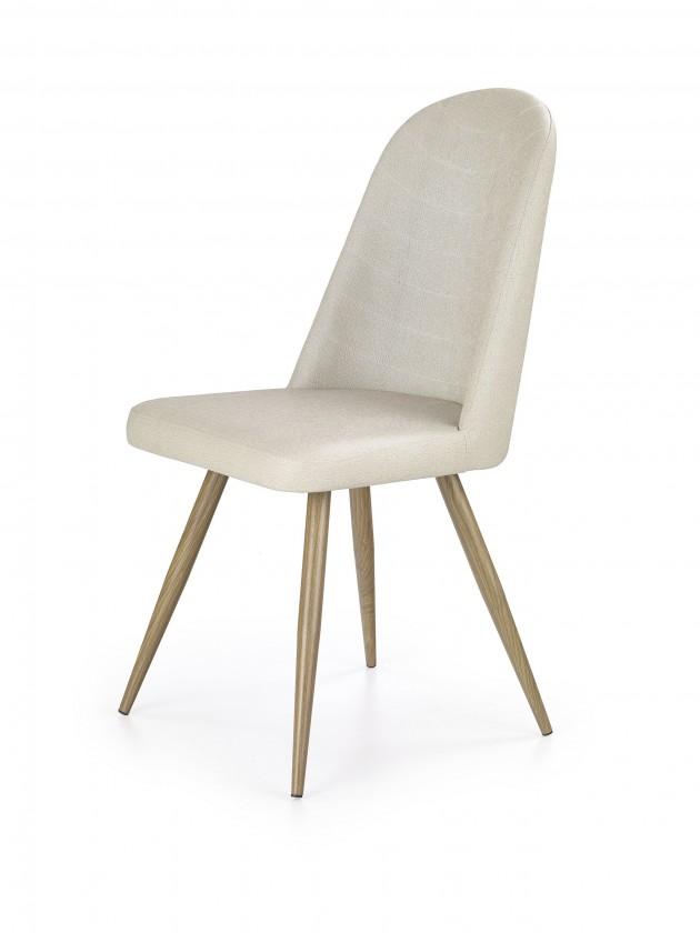 Jídelní židle K214 - Jídelní židle (tmavě krémová, dub medový)