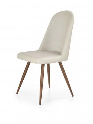 Jídelní židle K214 - Jídelní židle (tmavě krémová, třešeň)
