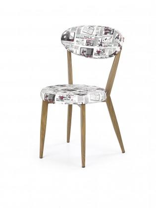 Jídelní židle K215 - Jídelní židle (potisk, dub medový)