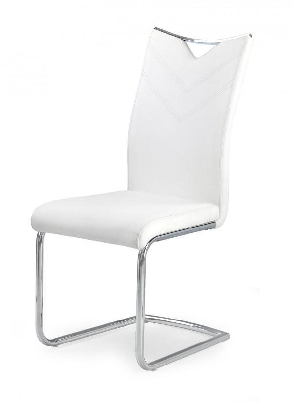 Jídelní židle K224 - Jídelní židle (bílá, stříbrná)