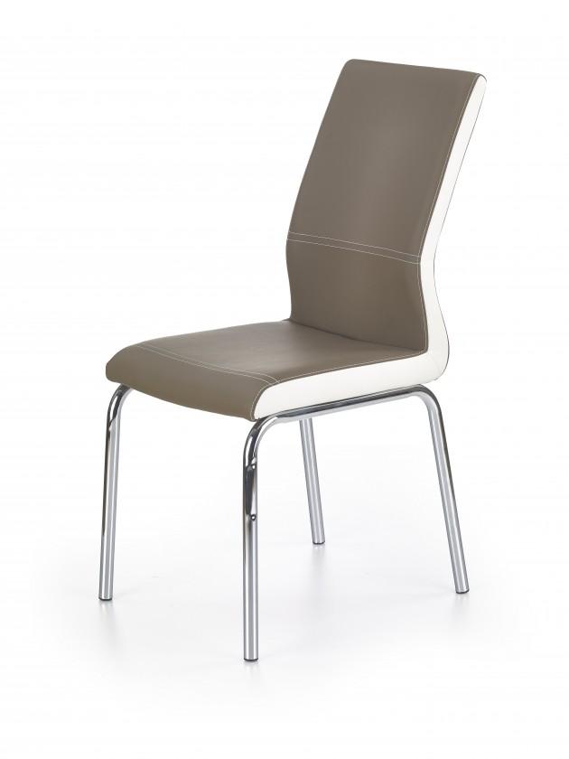 Jídelní židle K225 - Jídelní židle (cappuccino, bílá, stříbrná)