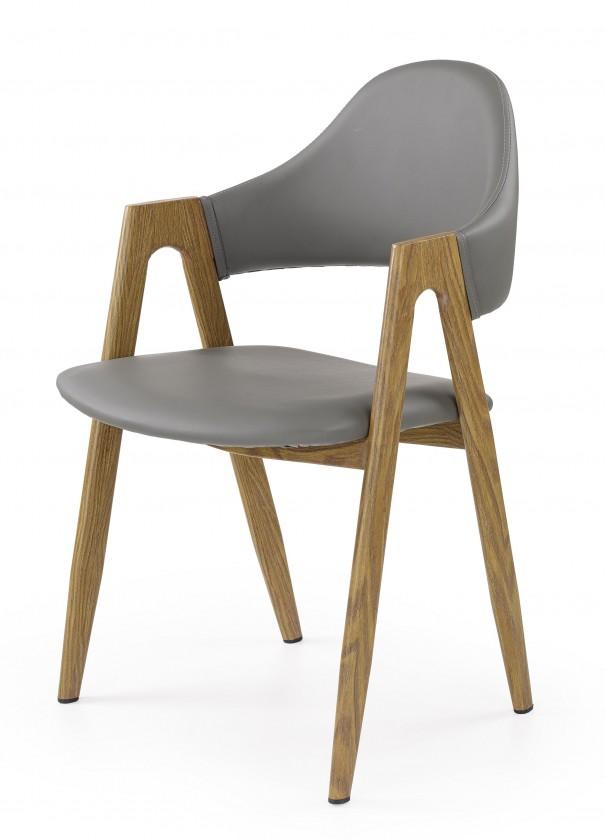Jídelní židle K247 - Jídelní židle, područky (ocel, eko kůže)