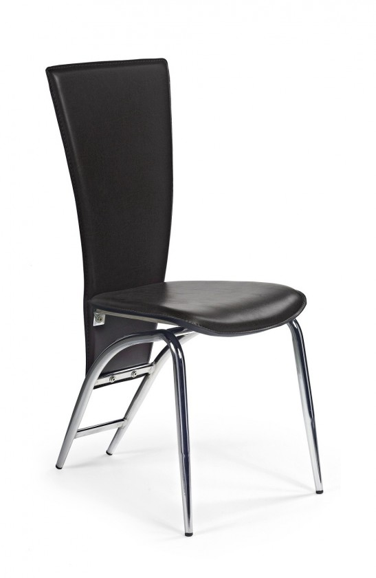 Jídelní židle K46  (eco kůže černá, chrom)