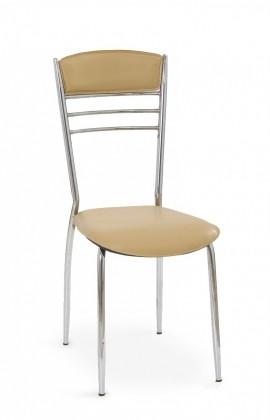 Jídelní židle K48  (světle hnědá, chrom)