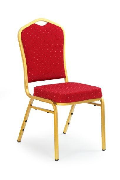 Jídelní židle K66  (zlatá, červená)