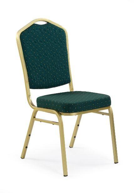 Jídelní židle K66  (zlatá, zelená)
