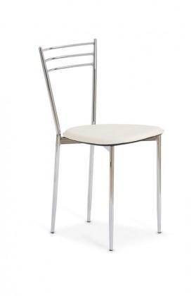 Jídelní židle K7 - Židle chrom, sedák béžová