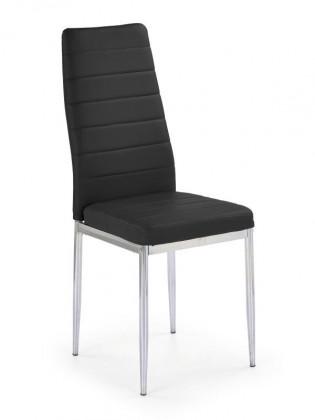 Jídelní židle K70C (černá, chrom) - II. jakost