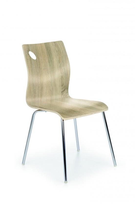 Jídelní židle K81  (dub sonoma, chrom)