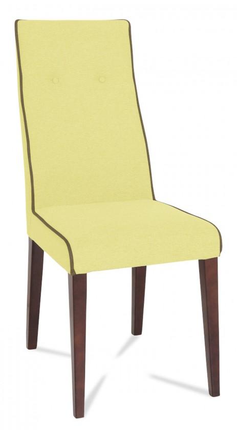 Jídelní židle Kanita (wenge/eko kůže kaiman slonová kost/linka hnědá)