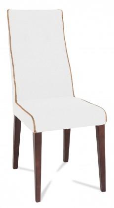 Jídelní židle Kanita (wenge/eko kůže vienna bílá/linka béžová)