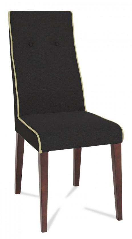 Jídelní židle Kanita (wenge/eko kůže vienna černá/linka slonová kost)