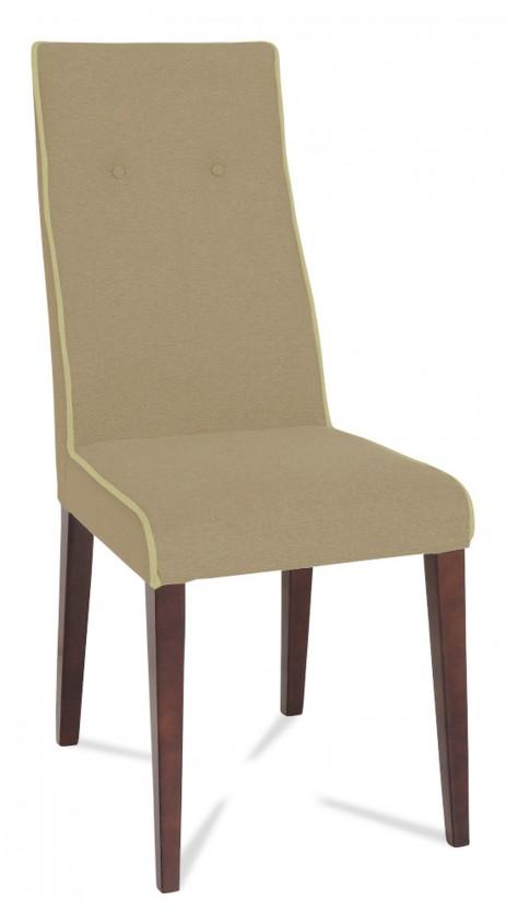 Jídelní židle Kanita (wenge/eko kůže vienna hnědá/linka slonová kost)