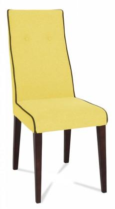 Jídelní židle Kanita (wenge/látka antara béžová/linka hnědá)
