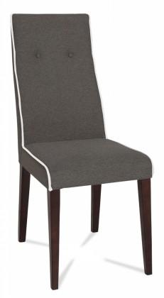 Jídelní židle Kanita (wenge/látka carabu šedá/linka bílá)