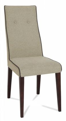 Jídelní židle Kanita (wenge/látka carabu šedá/linka šedá)