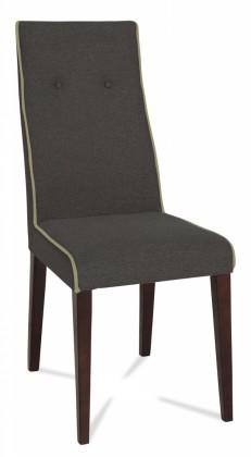 Jídelní židle Kanita (wenge/látka navara šedá/linka světle béžová)