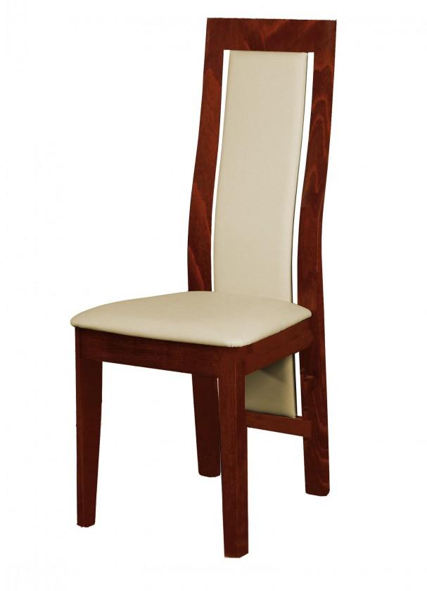 Jídelní židle Kanzas - jídelní židle (dřevo - sołtysiak/potah - syntetická kůže)