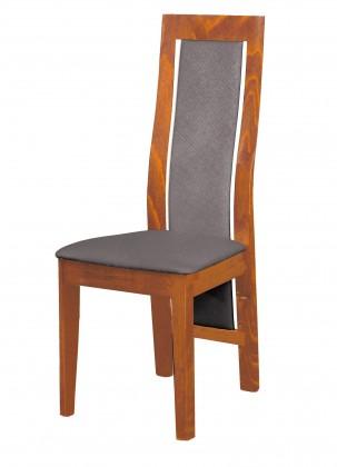 Jídelní židle Kanzas - jídelní židle (dřevo - světlý ořech/potah - látka)