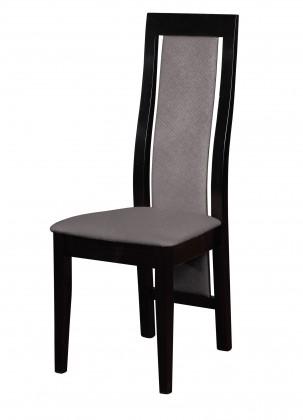 Jídelní židle Kanzas - jídelní židle (dřevo - wenge/potah - látka)
