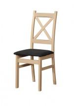 Jídelní židle Kasper dub sonoma, černá