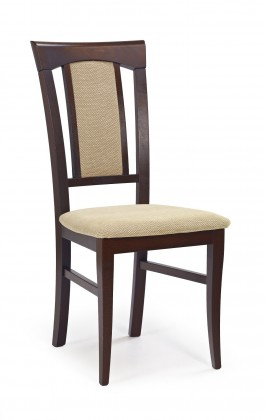 Jídelní židle Konrad  (béžová torent beige, ořech tmavý)