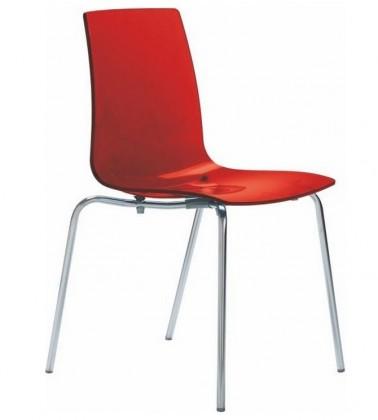 Jídelní židle Lollipop(rosso transparente)