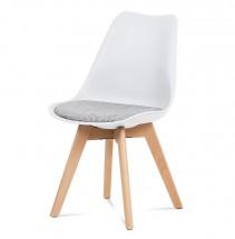 Jídelní židle Lupa bílá, šedá
