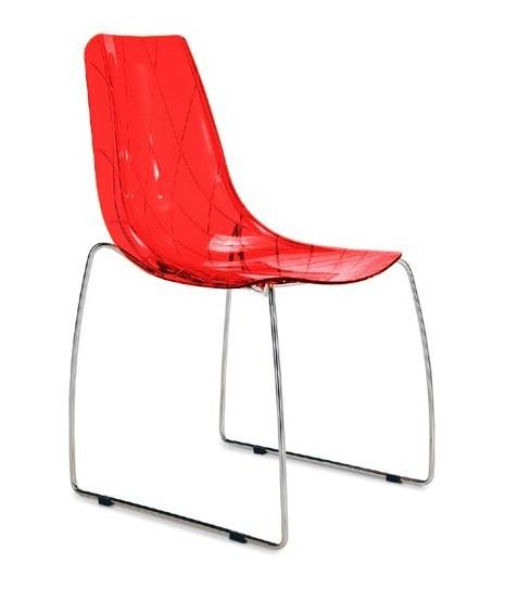 Jídelní židle Lynea-t - Jídelní židle (červená transparentní)
